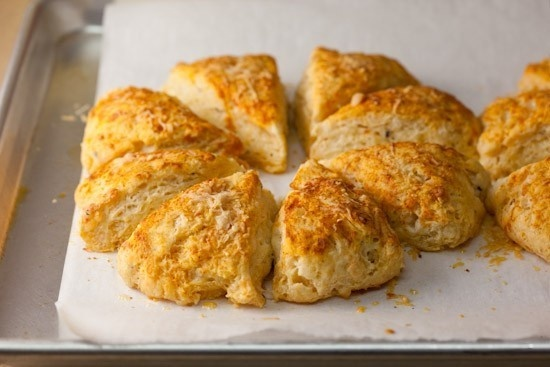 cheddar, Parmesan and cracked pepper scones, with smoked paprika ...