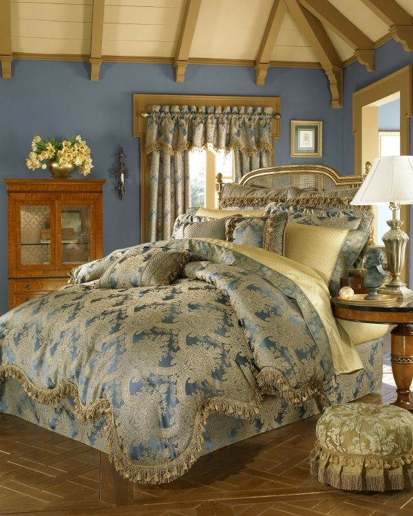 blue gold bedroom perchance to dream bedrooms pinterest