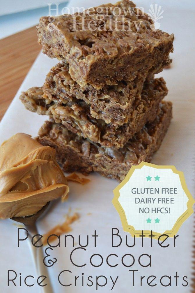 Peanut Butter Cocoa Rice Crispy Treats | Things I want to try... | Pi ...