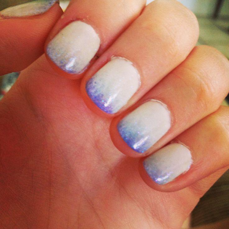 Shellac nail art, ombré. | nails,nails,nails | Pinterest