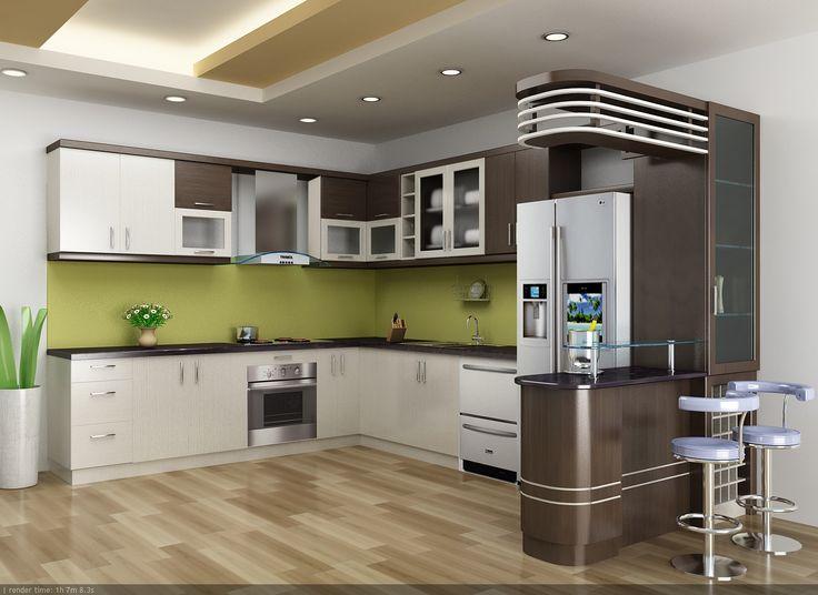 không gian bếp sang trọng với máy hút mùi Fagor