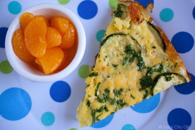 zucchini fritata | Girls Gotta Eat | Pinterest