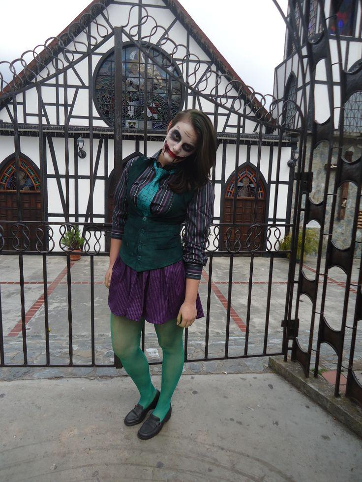 Joker dark knigth mujer hecho en casa disfraces para - Difraces para carnaval ...