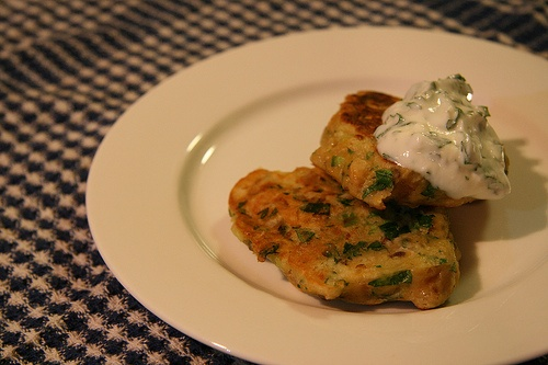 ... chickpea these days..... Chickpea fritters w/ yogurt sauce....YUM
