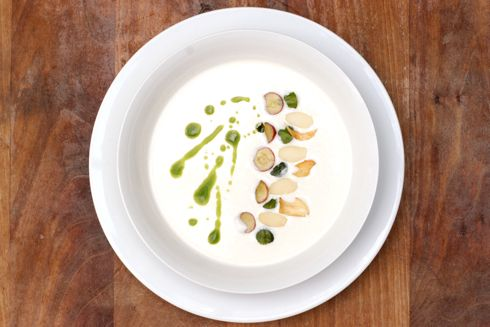 White Gazpacho Soup Recipe | a day for feasting | Pinterest