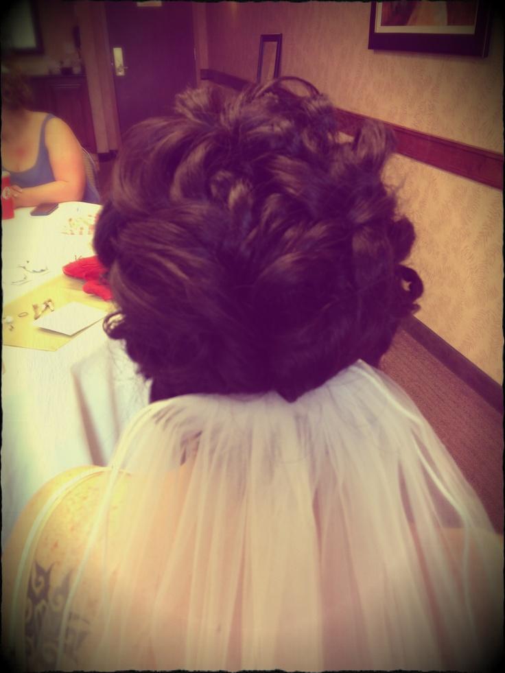 Gorgeous brides hair done by Sheena Coatman at No Regrets Hair Studio ...