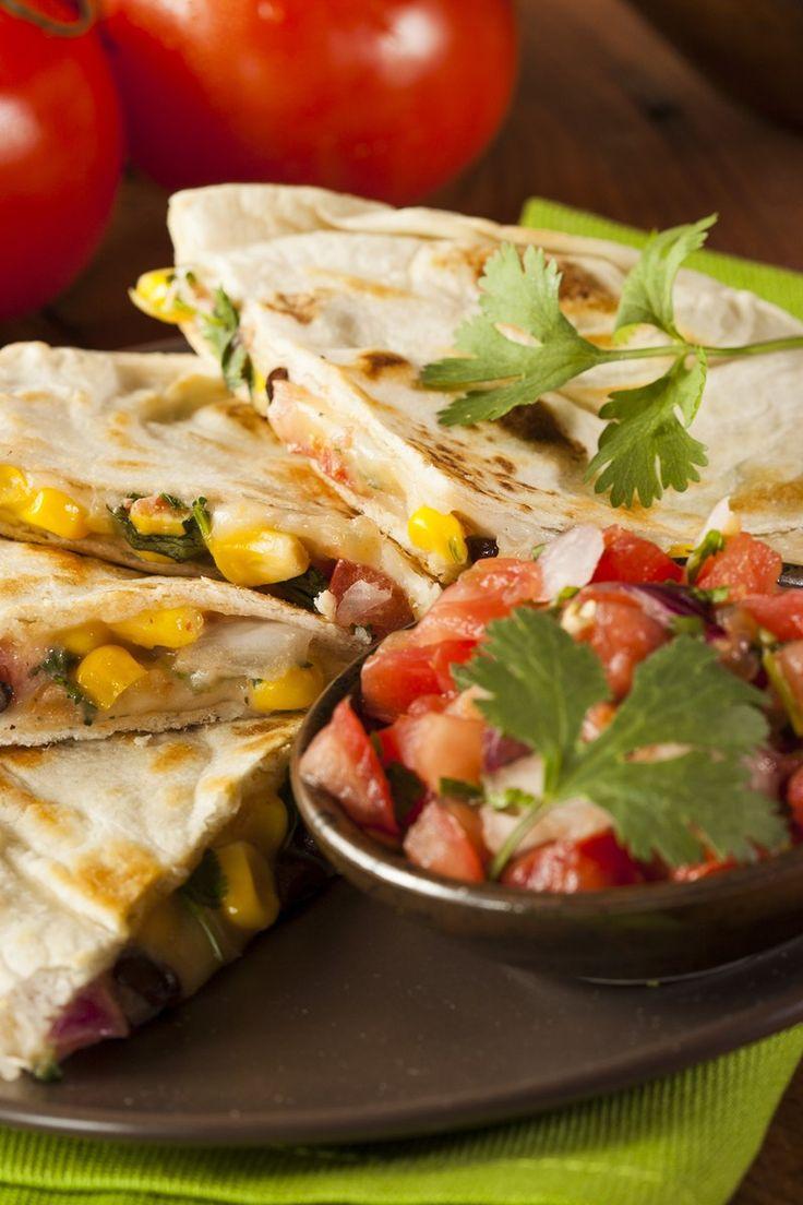 Black Bean and Corn Quesadillas Recipe | Things to Eat | Pinterest