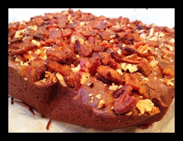 Bacon-Bourbon Brownies with Pecans Oh My | Sweet Treats | Pinterest