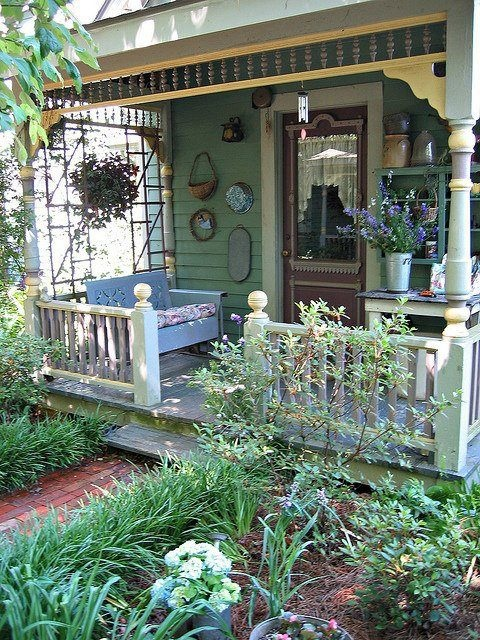 Country porch beautiful country pinterest Cottage porch decorating ideas