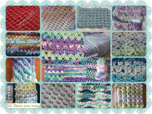 Crochet Stitches Meladora : Crochet stitches, find these and others here at Meladora?s Creations