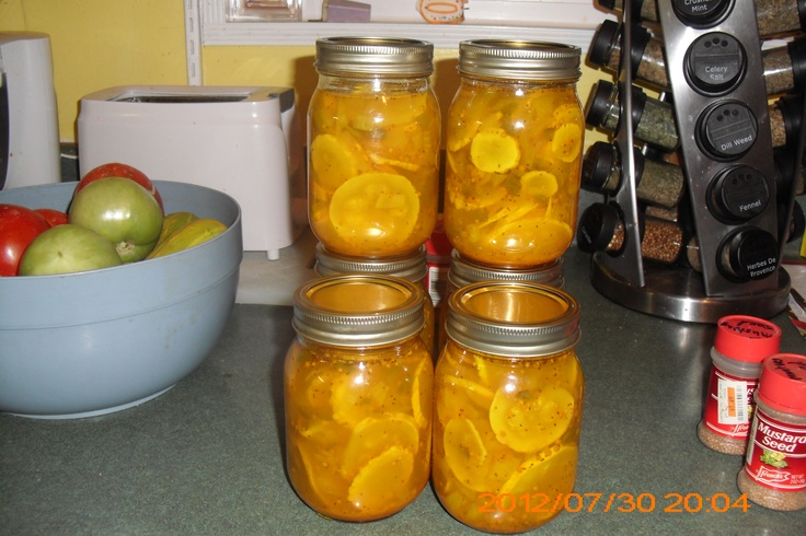 Yellow Squash Pickles | CAN IT | Pinterest
