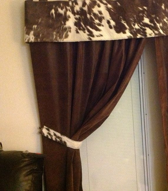 ... on cowhide curtain valance with faux leather curtain. Sold by the