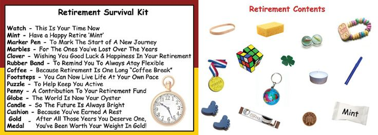 Retirement Survival Kit In A Can. Novelty Gift - Fun ...