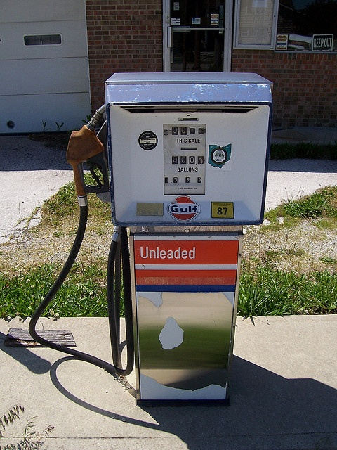 Vintage Gulf Gasoline Pump #1 by The Upstairs Room, via Flickr