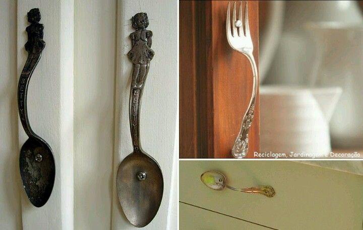 Jaladores con cucharas