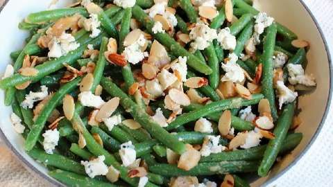 Blue Cheese Green Bean Casserole Recipe — Dishmaps