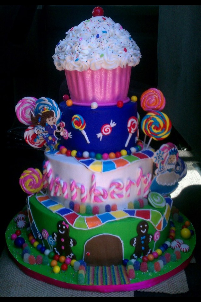Annberly 39 S Candyland Cake Rylee Birthday Party Ideas Pinterest