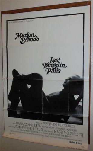 1972 last tango in paris one sheet movie poster starring marlon brando