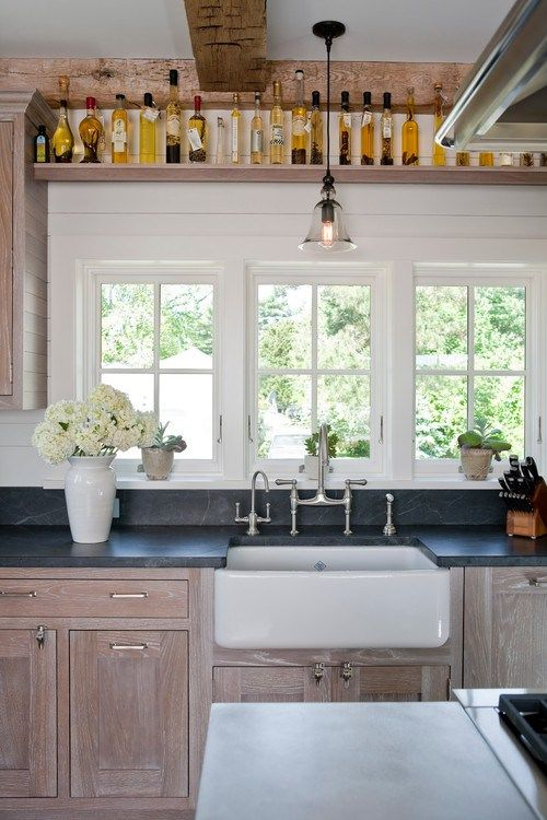 lime washed cabinets  Kitchen Magic  Pinterest