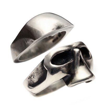 Skull Half Ring