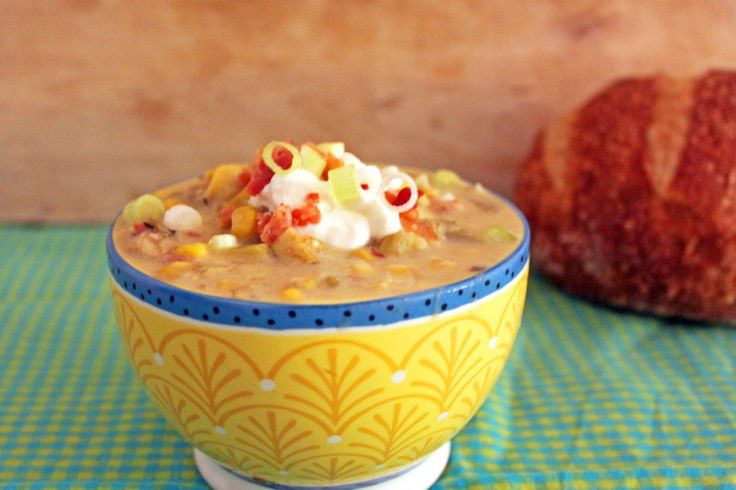 Summer Corn Chowder With Scallions, Bacon & Potatoes ...