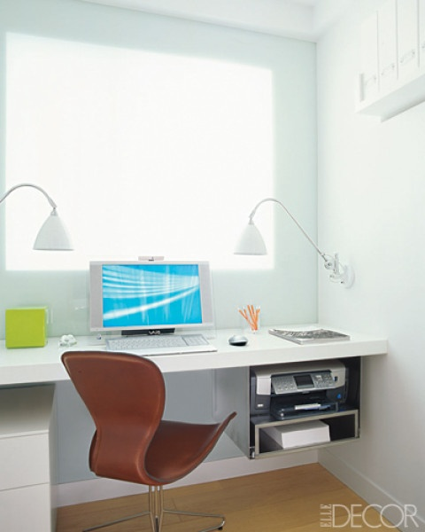 Dupont Corian Office. Would love a home office like this!