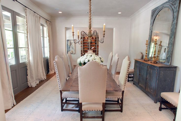 Love the french doors in the dining room dining spaces for Dining room ideas with french doors
