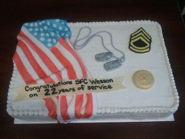 Army Retirement Cake Images : Army Retirement Cake Special cakes for hubby(retirement ...