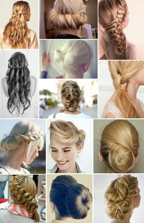 Super easy 2013 buns, braids, n updos | hair | Pinterest