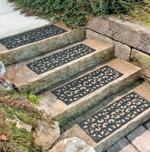 Best Outdoor Decorative Rubber Stair Treads Non Slip Deck Patio 400 x 300