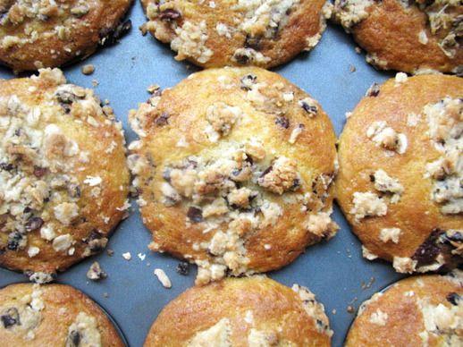 Chocolate Chunk Muffins with Cocoa Nib Streusel | Recipe