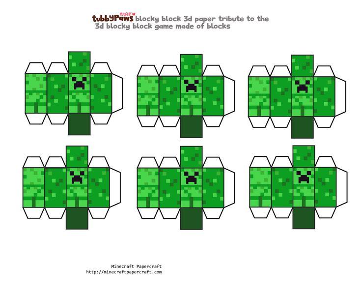 Как сделать майнкрафт из бумаги блоки