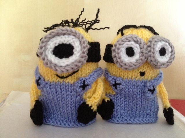 Minion egg cosies. My Knitting list Pinterest