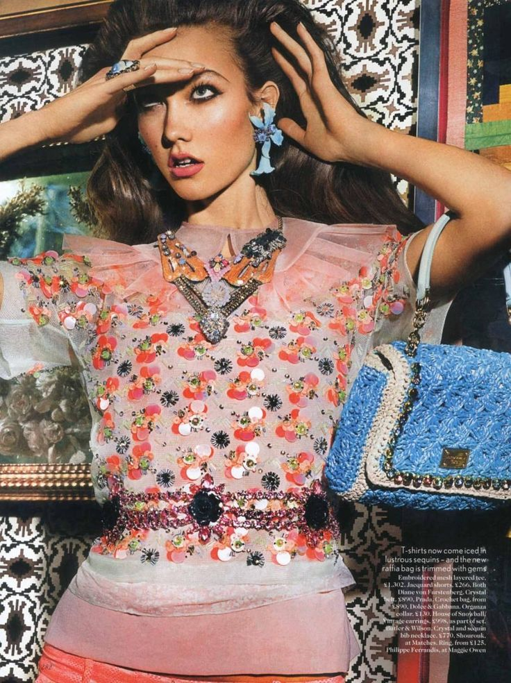 #editorial  Lady Luxe   Model: Karlie Kloss  Photographer: Mario Testino  Stylist: Lucinda Chambers  Hair: Sam McKnight  Make-up: Val Garland   Vogue US, March 2012