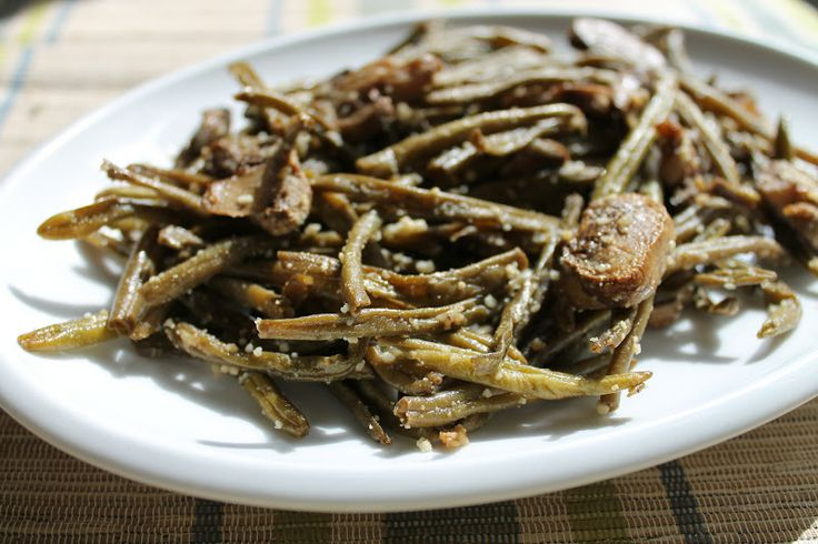 ... Aimee Cook: Roasted Green Beans with Mushrooms, Balsamic, and Parmesan