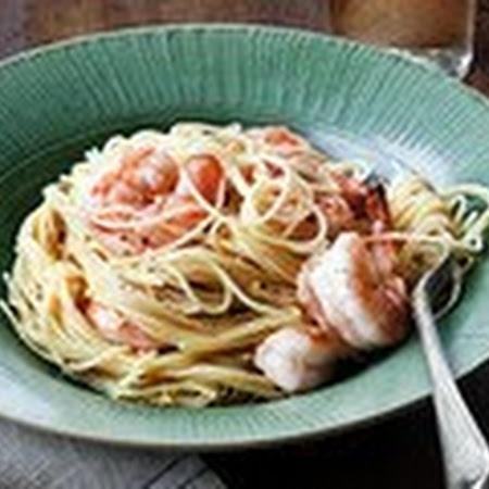 Lemon Pasta with Roasted Shrimp | Yummy | Pinterest