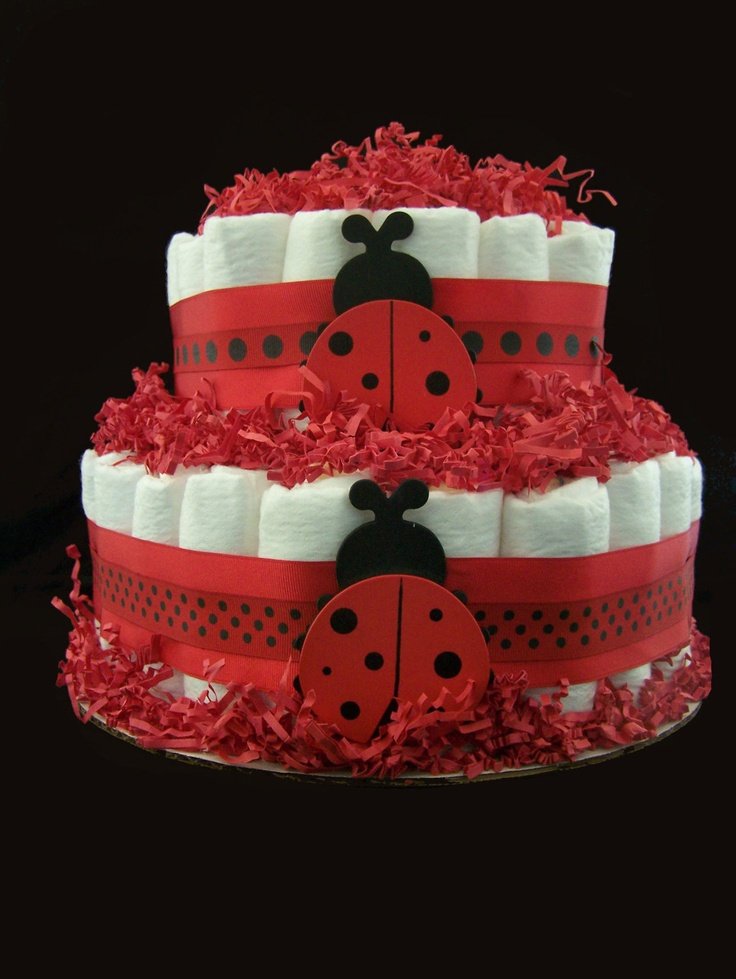 ladybug diaper cake baby shower centerpiece baby shower ideas baby