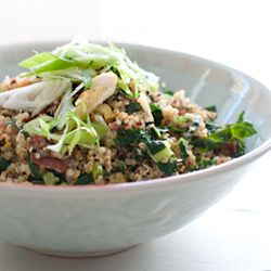 Quinoa Fried Rice (with bacon and kale) – a childhood favorite gone ...