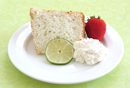 Lime Angel Food Cake Recipe Loved how they use powdered sugar rather ...