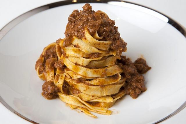 ... with ragu handmade pasta chianina beef and mora romagnola pork ragu