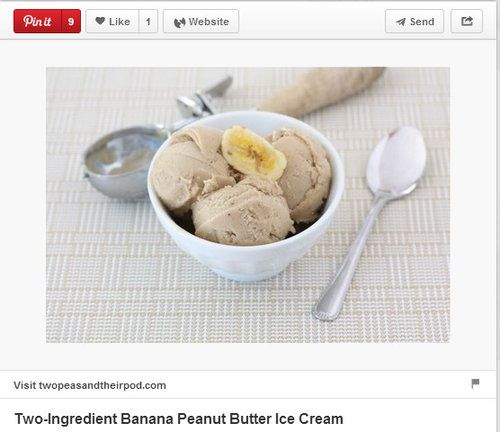 Two-ingredient banana peanut butter ice cream pinned by ...
