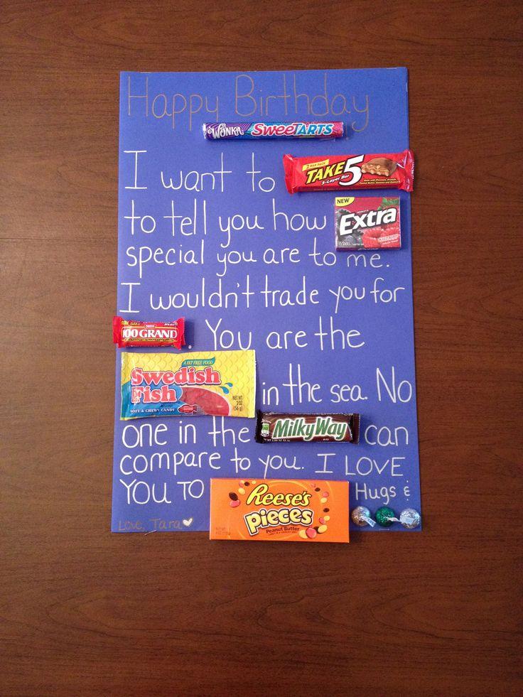 Candy Birthday Card for Boyfriend! | Candy birthday cards | Pinterest
