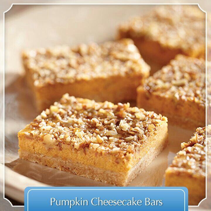 Pumpkin cheesecake bars | Desserts- cakes | Pinterest
