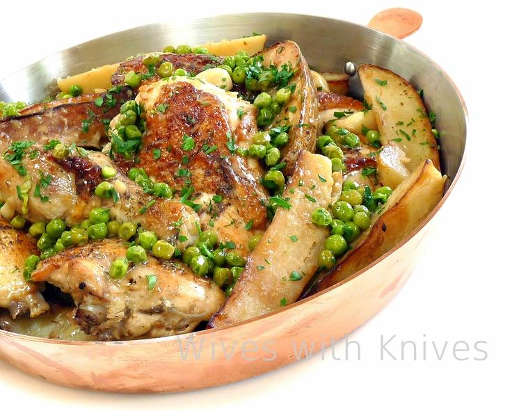 Chicken Vesuvio. My Grandfather made this. Delicious!