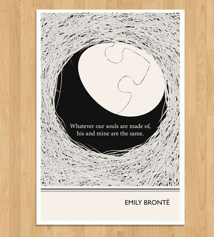 illustrated emily bronte quote print quote unquote