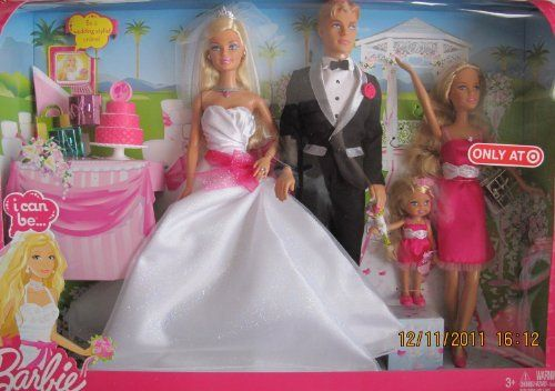 Wedding Gift Set Barbie : Barbie I Can Be BRIDE & GROOM WEDDING Gift Set w Barbie, Ken, Skipper ...