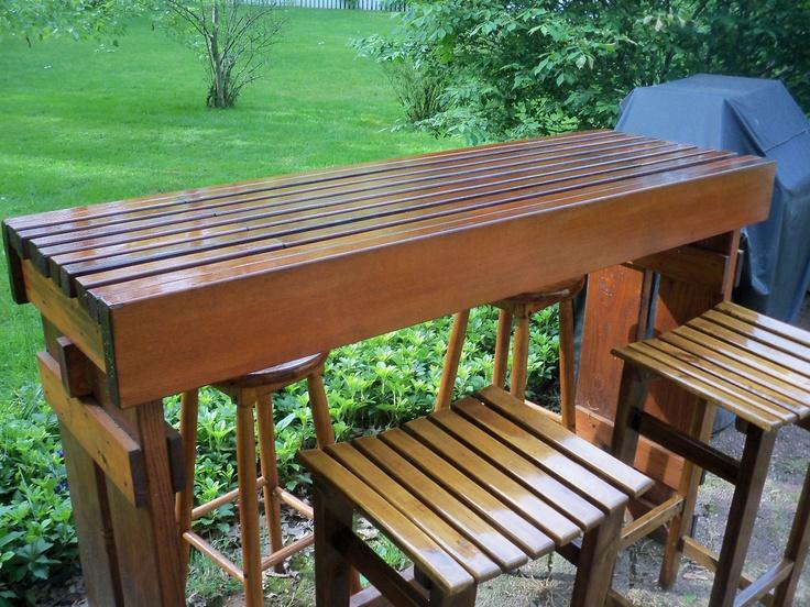 diy outdoor cedar bar decks pinterest