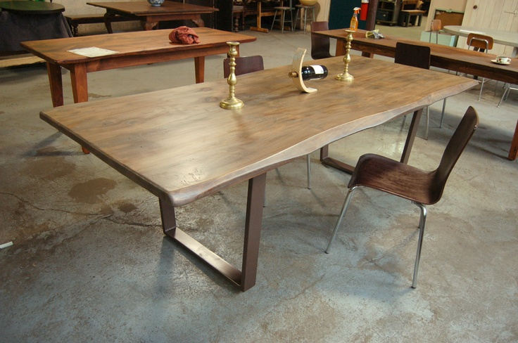 Farm Table with Modern Industrial Legs