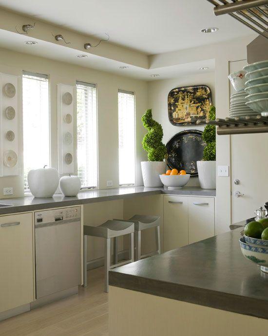 concrete countertops small kitchen ideas pinterest
