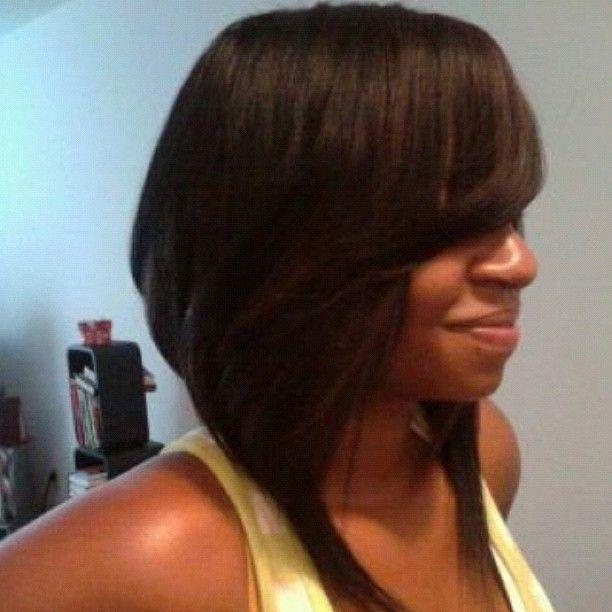 Full Sew in Bob Cut Hairstyle